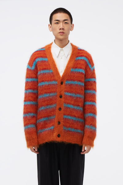 Marni - Cardigan Orange/Blue Knit