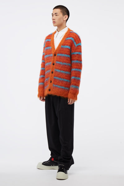 Cardigan Orange/Blue Knit