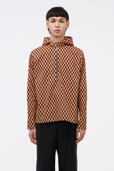 Conscious Creatures - Ace Moto Hooded Shirt  Yellow Sunshine Ceamic S Pattern