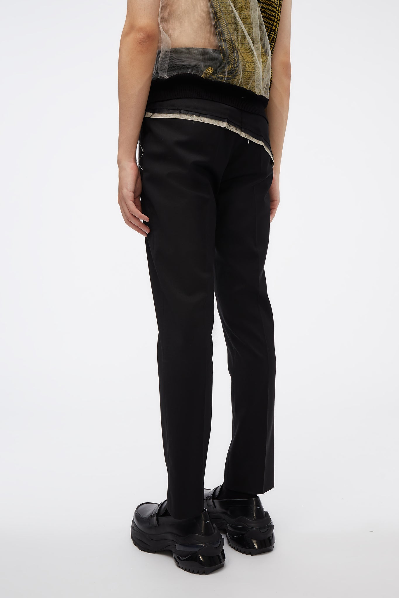 D'angelo Trousers W/ Raw Panel Detail Black