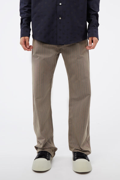 Marni - BK/RED Stripe Trouser