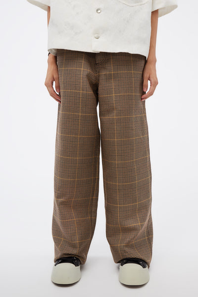Marni - Brown Check Trousers