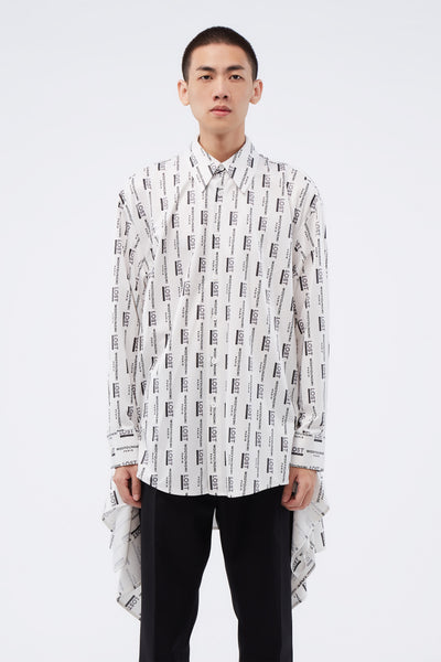 WOOYOUNGMI - Full Print Shirt White