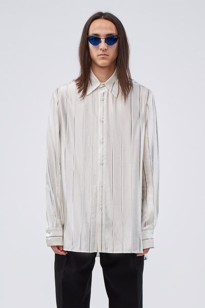 Conscious Creatures - Ted Loose LS Shirt Infernal Angel Silver White Stripe