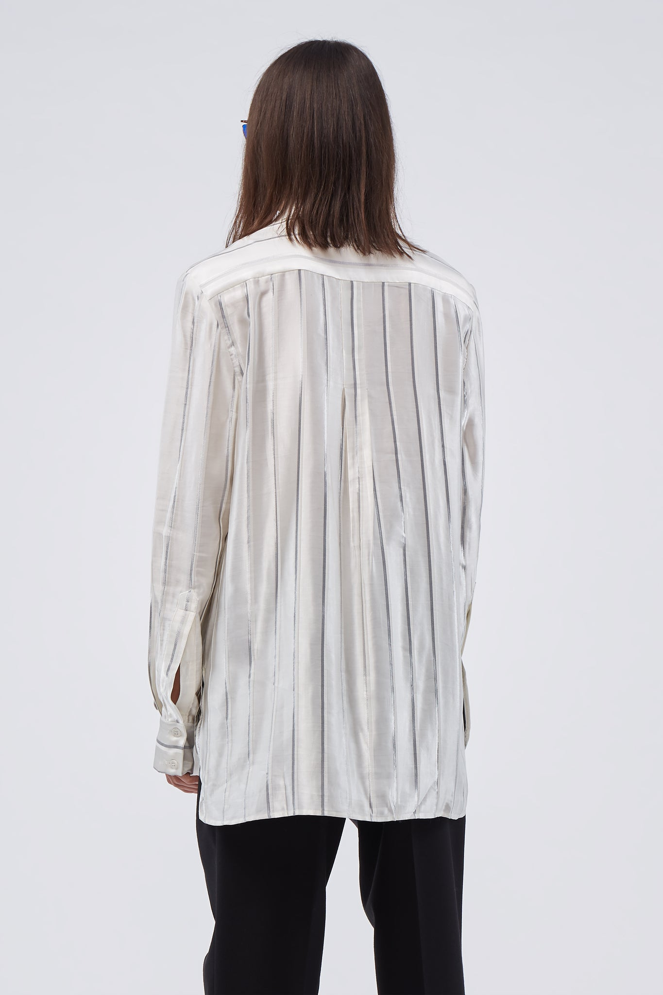 Ted Loose LS Shirt Infernal Angel Silver White Stripe