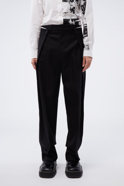 WOOYOUNGMI - Big Fold Pants Black