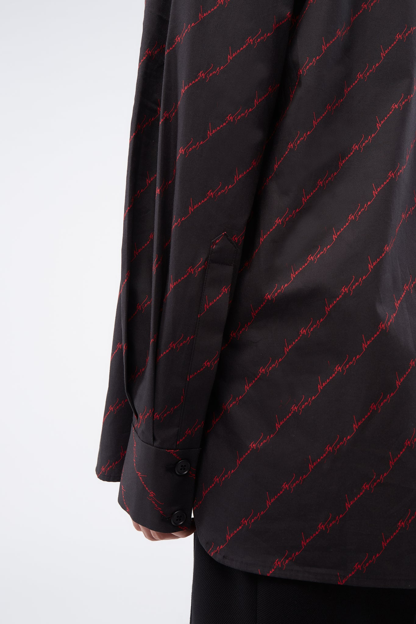 Ted Loose LS Shirt Dry Onyx Diagonal Signature Pattern