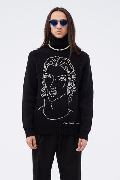 Casablanca - Turtleneck Knit Top Black