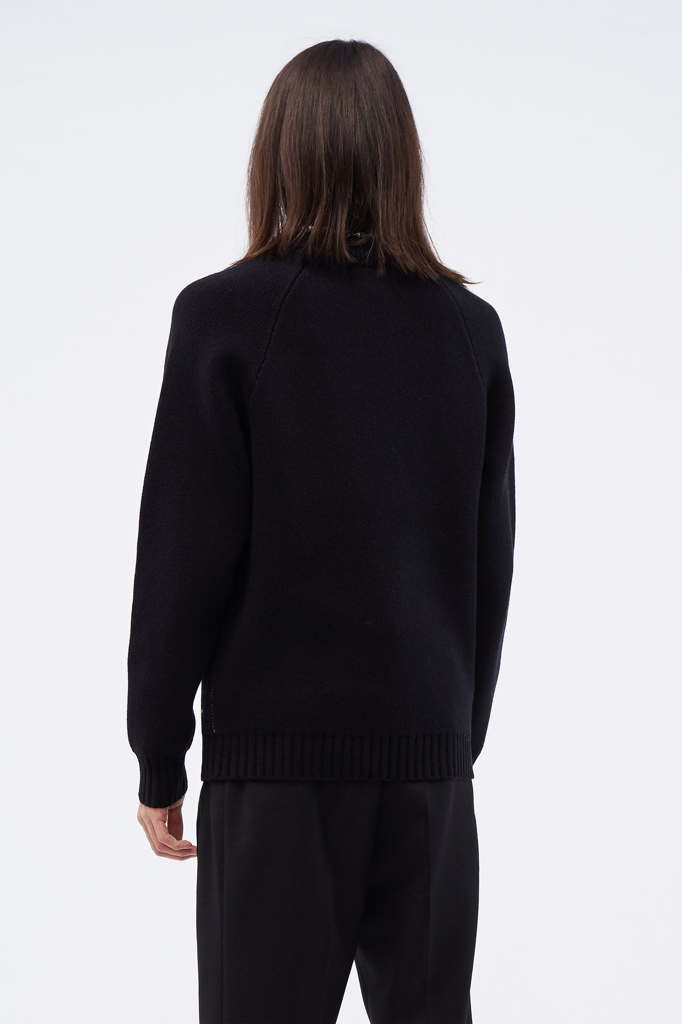 Turtleneck Knit Top Black