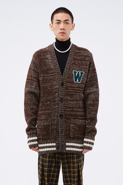 Wales Bonner - College Cardigan Brown