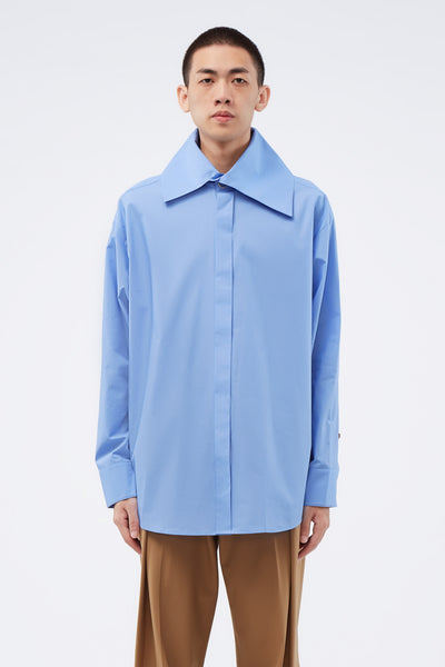 WOOYOUNGMI - Big Collar Shirt Blue