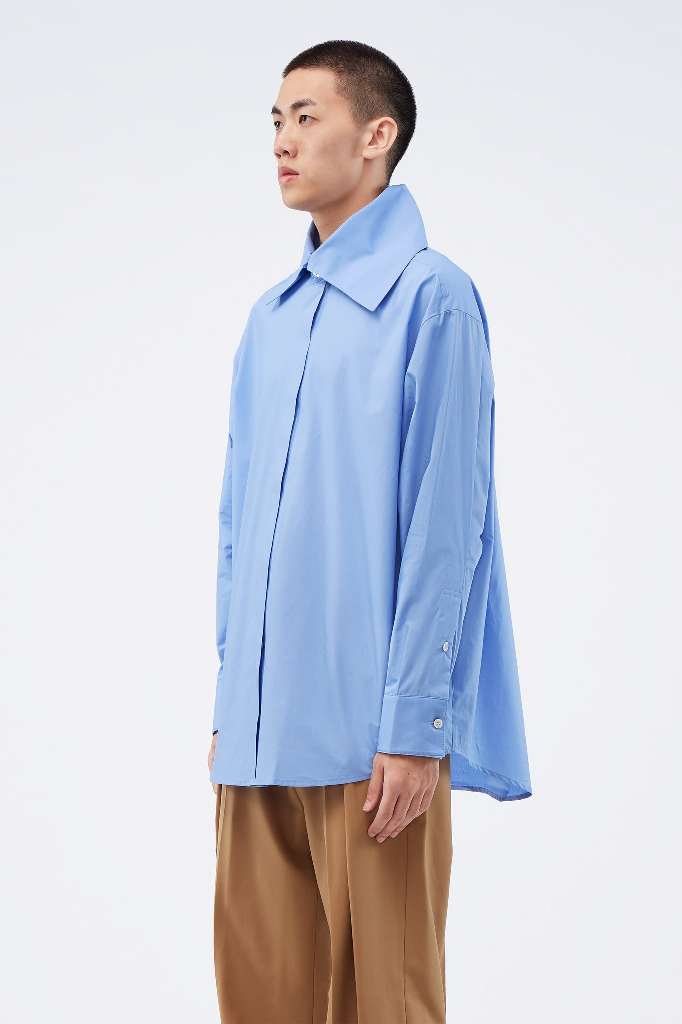 Big Collar Shirt Blue