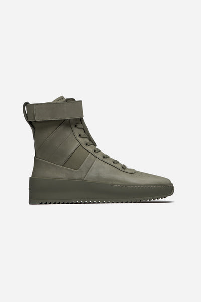 Fear of God - Military Leather Sneakers Army Green