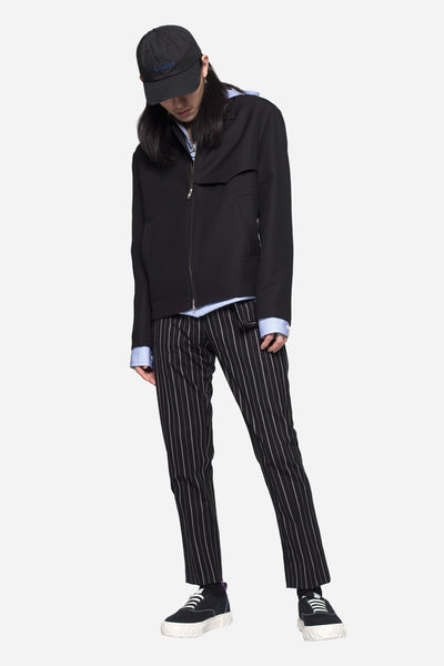 Wesly Casual Zip Jacket Pure Wool Black