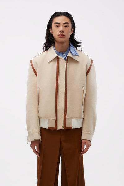 Casablanca - Cotton Canvas Bomber Natural
