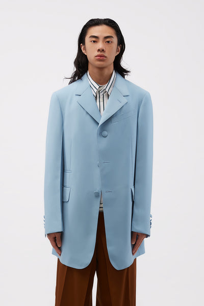 Lanvin - 3 Button Long Jacket Storm