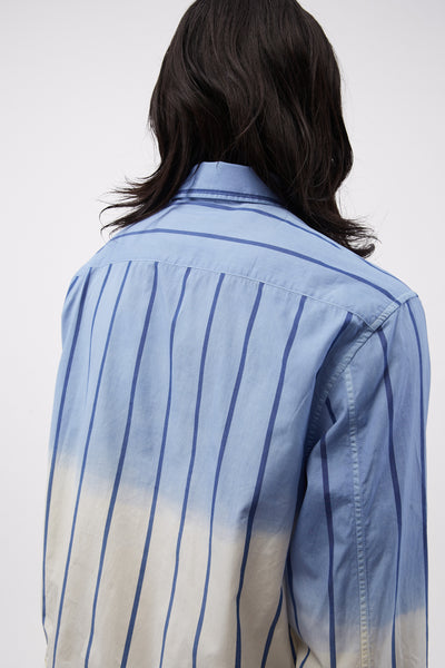 Jacket Shirt Overdyed Blue