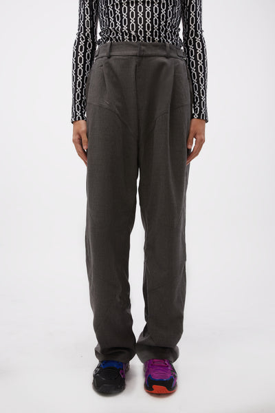 GmbH - Pleated Trousers W Adjustables Grey