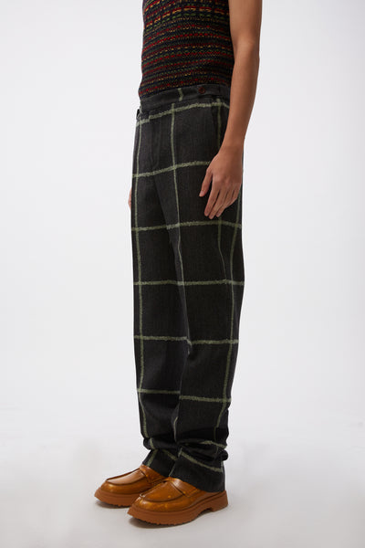 Judah Tailored Trousers Charcoal/ Green