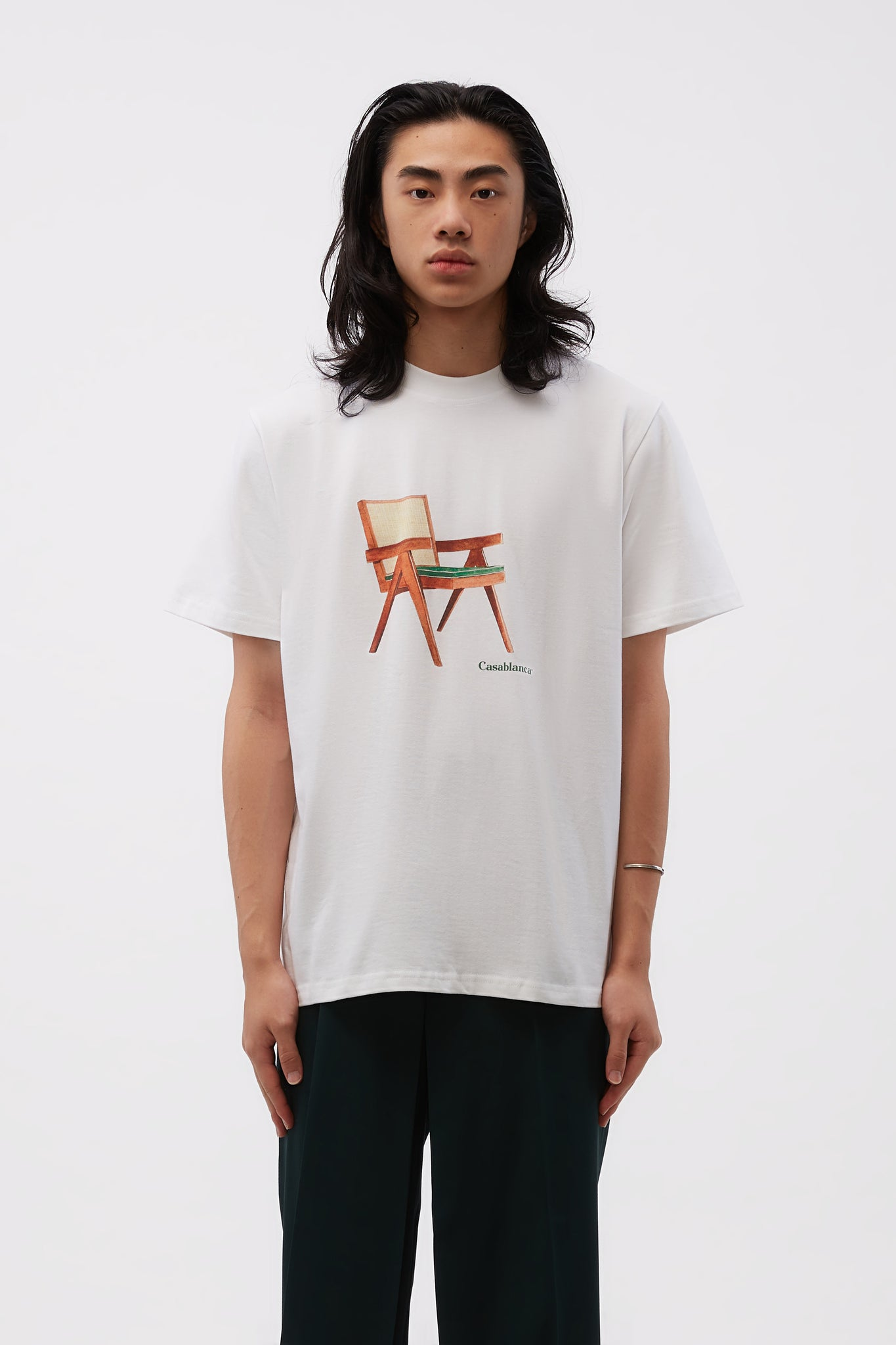The Art Of Sitting Printed Tee White