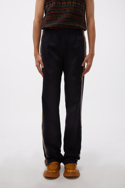 Wales Bonner - Palms Crochet Track Pants Black