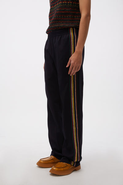 Palms Crochet Track Pants Black