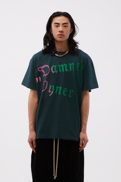 Vyner Articles - Vision T-shirt Gradient Print Green