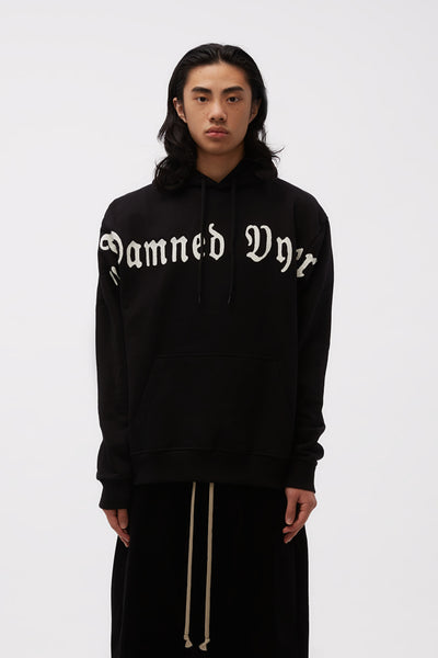 Vyner Articles - Hoodie Sweat Damned Vyner Print BL/ WH