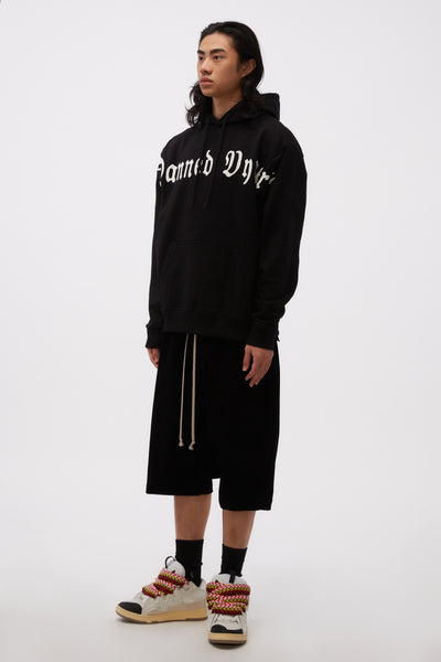 Hoodie Sweat Damned Vyner Print BL/ WH