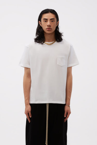 Second / Layer - Love Affair Serif Pocket Tee White
