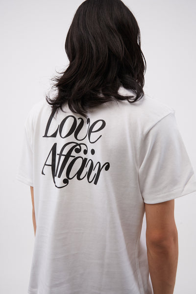 Love Affair Serif Pocket Tee White
