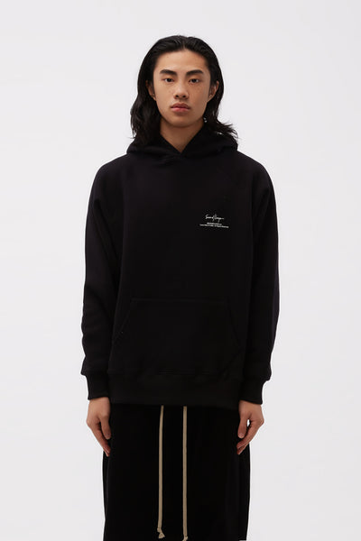 Second / Layer - Classic Raglan Hoodie Black