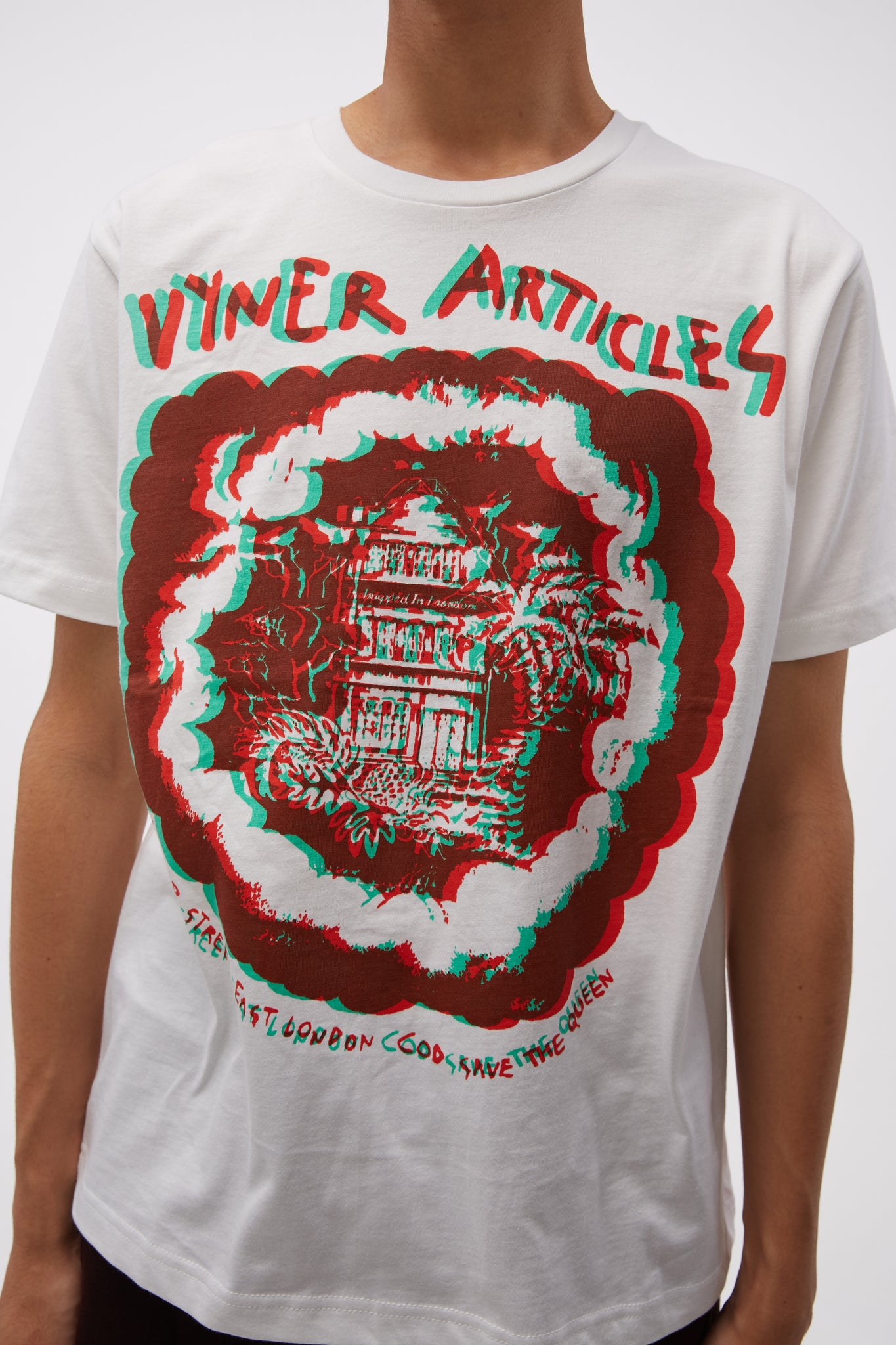 Under T-shirt 3D House Print White