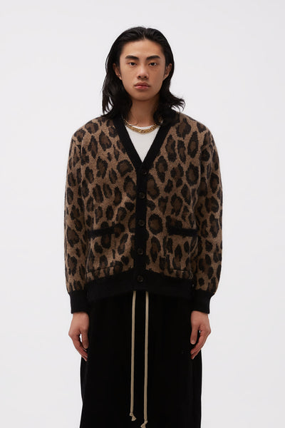 Second / Layer - Rocker Cardigan Color Leopard Polo