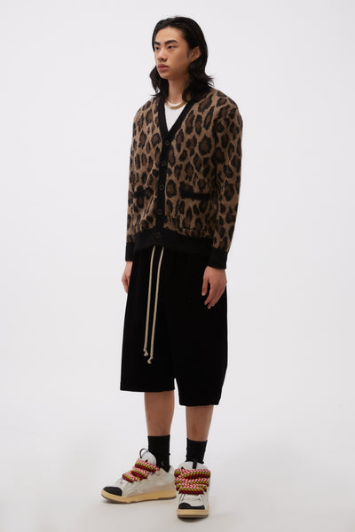 Rocker Cardigan Color Leopard Polo