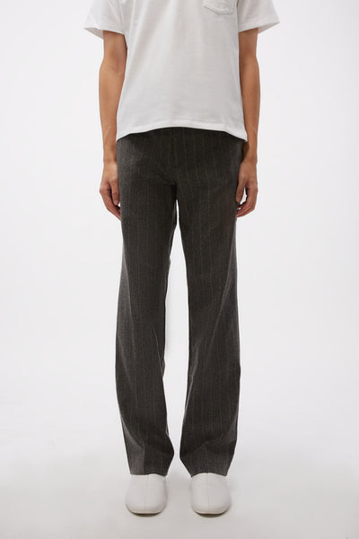Second / Layer - Pico Bootcut Trousers Charcoal/Yellow Stripe