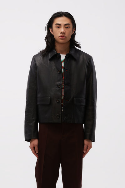 Second / Layer - Mad Dog Leather Jacket Black