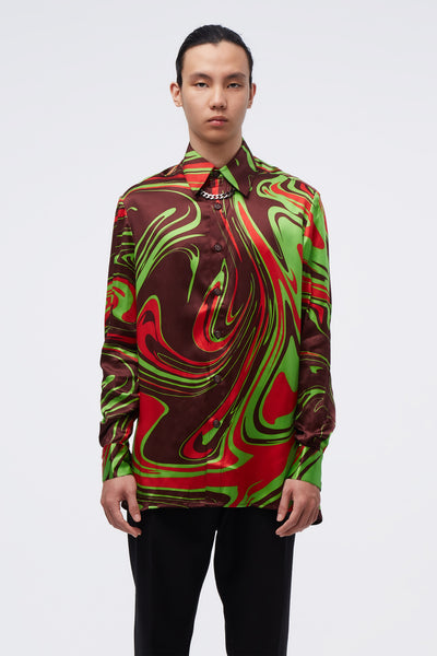 Conscious Creatures - Ted Loose LS Shirt Looney Tunes Swirl Pattern