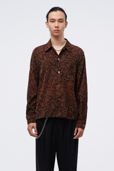 Our Legacy - PX Evening Shirt Swirl Print Brown