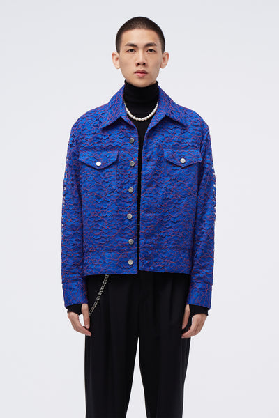 Conscious Creatures - Lou Denim Jacket Magnetic Blue Lace