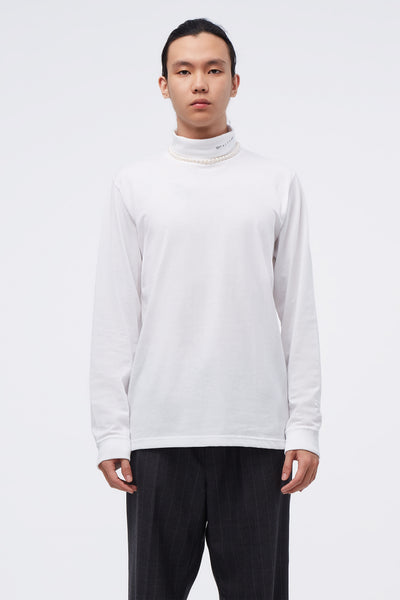 1017 Alyx 9sm - L/s Roll Neck Tee Visual White