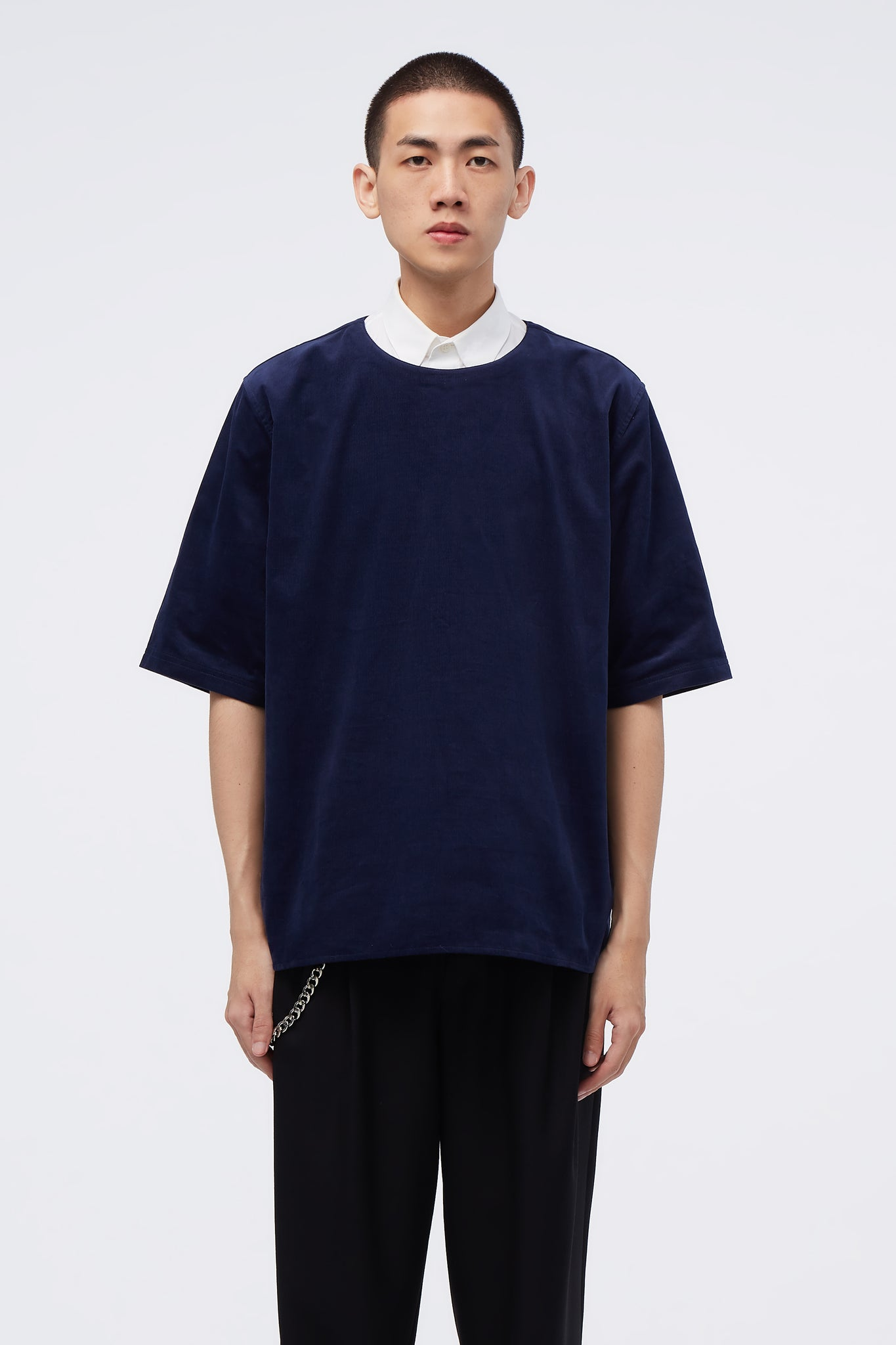 Pullover Relaxed T-shirt Midnight Navy corduroy