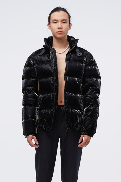 1017 Alyx 9sm - Puffer Coat W Nylon Buckle Black