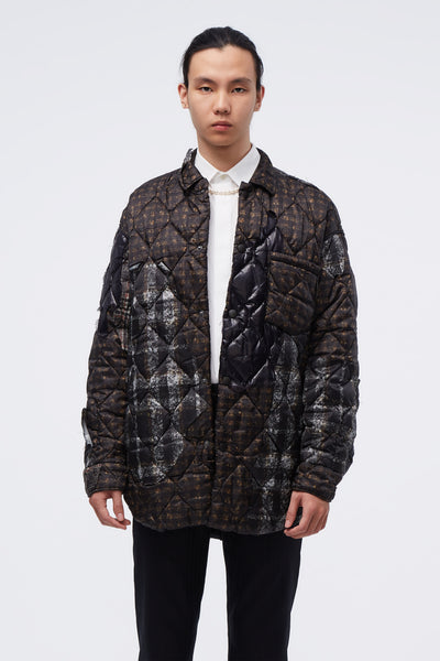 CMMN SWDN - Quilted Puffer Jacket Brown