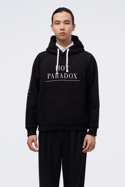 Second/Layer x NE.SENSE - Black/Pink Hot Paradox Hoodie