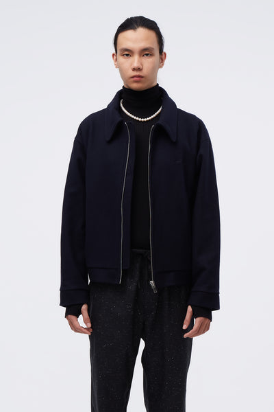 Second / Layer - Barras Blouson Midnight Navy