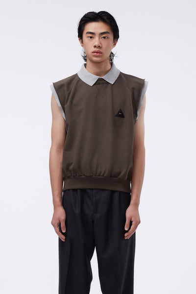 GR-Uniforma - Sleeveless Sweatshirt Khaki