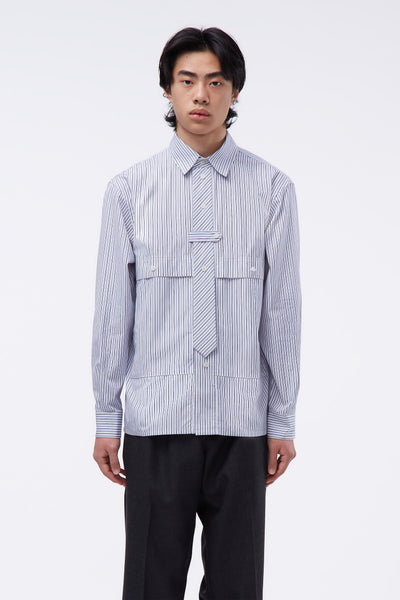 GR-Uniforma - Blue Striped Shirt