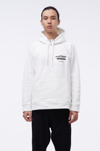 Second / Layer - EBM Patch Hoodie Milk