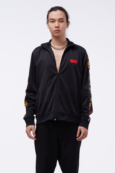 SSS World Corp - Sponsors Multi print Track Jacket Black